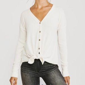 Abercrombie Cozy Tie-Front Button Up